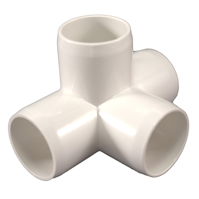 Quot way side outlet tee furniture grade pvc fitting
